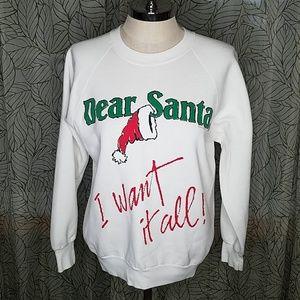 Vintage 1987 Dear Santa Sweatshirt Women's Bin16
